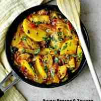 Onion Potato and Tomato Curry - Onion Potato Tomato Sabzi