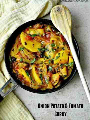 Onion Potato and Tomato Curry