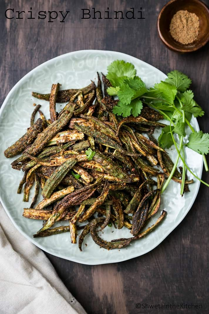 Crispy Bhindi - Crispy and Spicy Oven Baked Okra