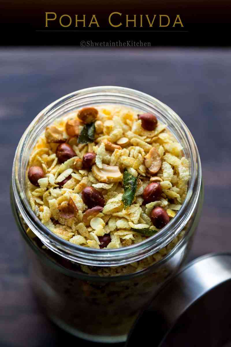 Poha Chivda - Savory Flattened Rice Mixture