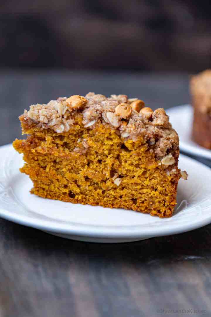 Pumpkin Butterscotch Streusel Cake