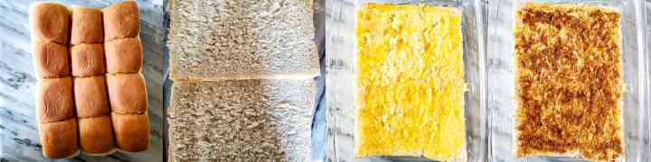 Step 3 - Cheesy Garlic Masala Pav Sliders