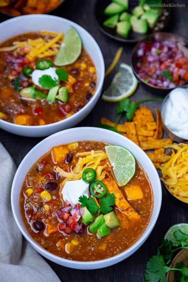 Quinoa Enchiladas Soup