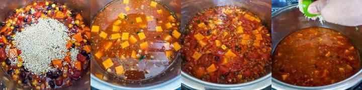 Quinoa Enchiladas Soup - Step2