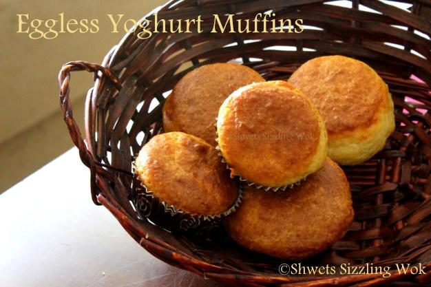 Eggless Yoghurt Muffins