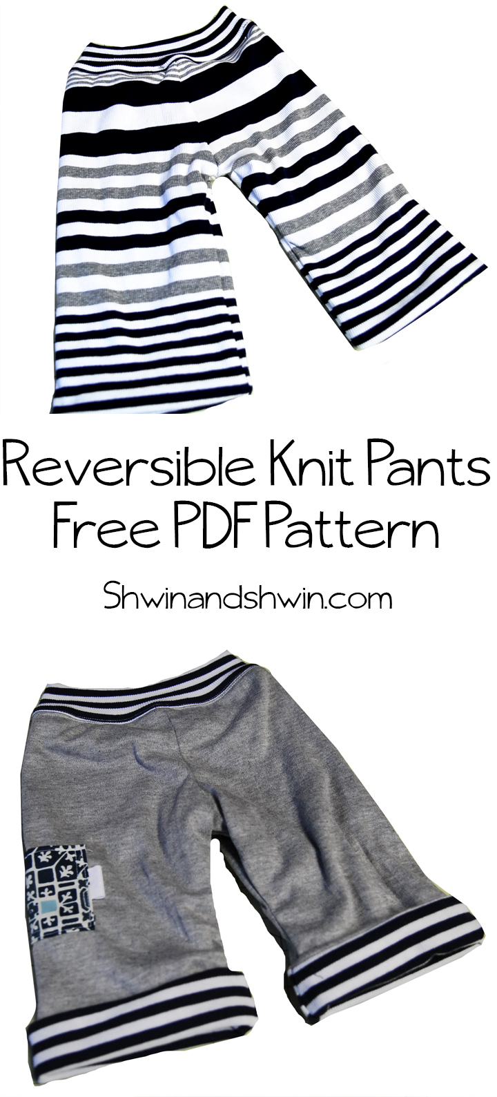 Reversible Knit Pants    Free Pattern for Baby