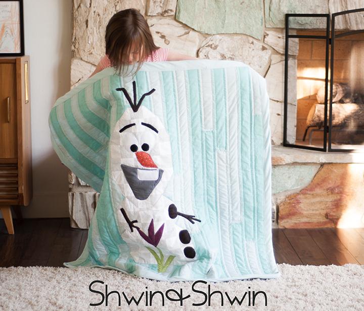 Popular Olaf Frozen Quilt Free Pattern and Tutorial Shwin uShwin