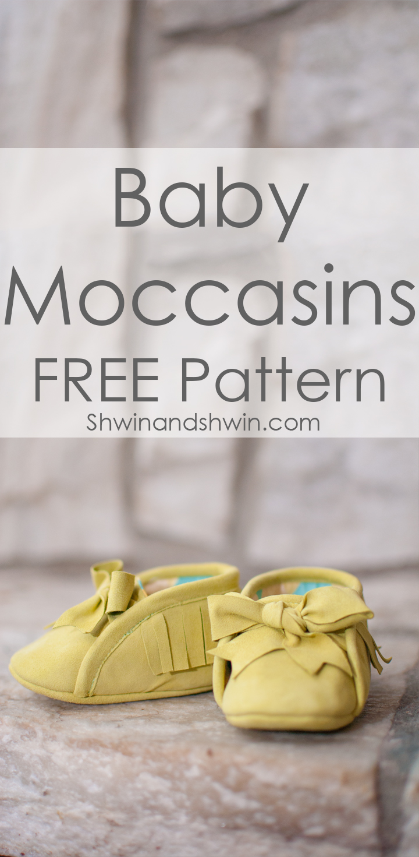 Baby Moccasins Free Pattern - Shwin and