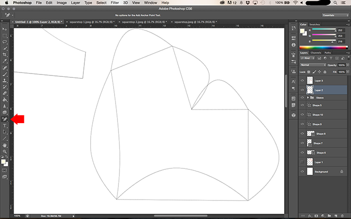 How to make a PDF Pattern using Photoshop    Step by step from sketch to print