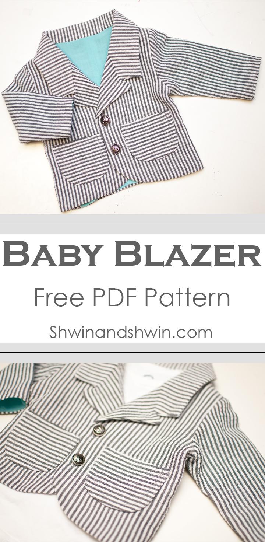 Baby Blazer Pattern    Free PDF Pattern