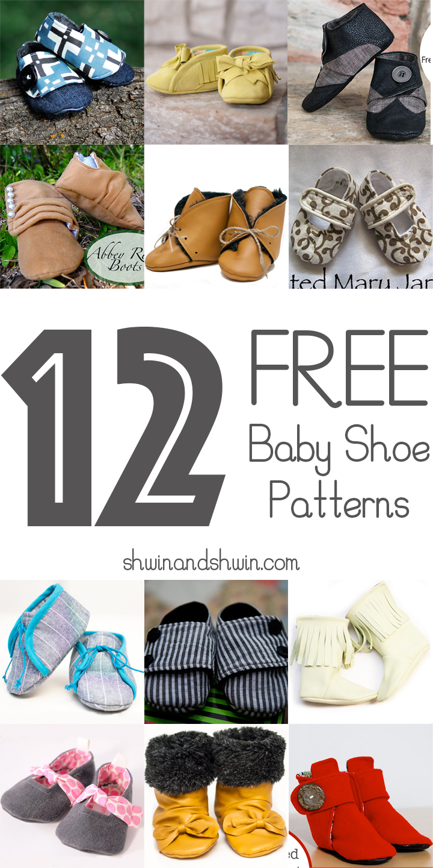 12 FREE Baby Shoe Patterns || Shwin&Shwin