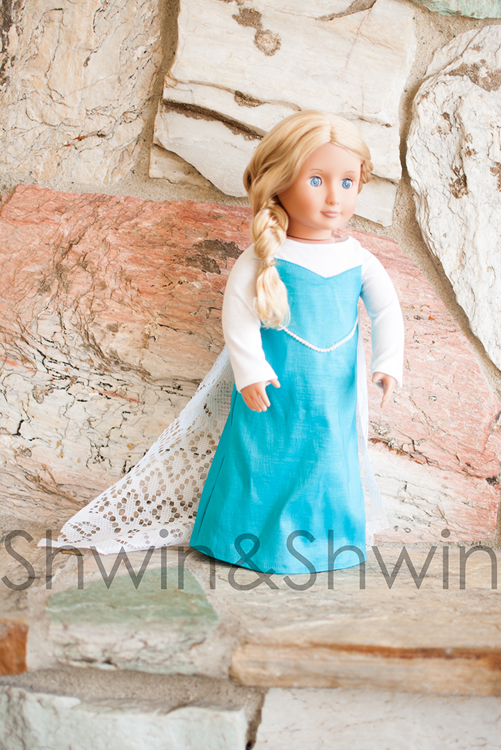 Elsa18Elsa Inspired Doll Dress || Free PDF Pattern || Shwin&Shwin