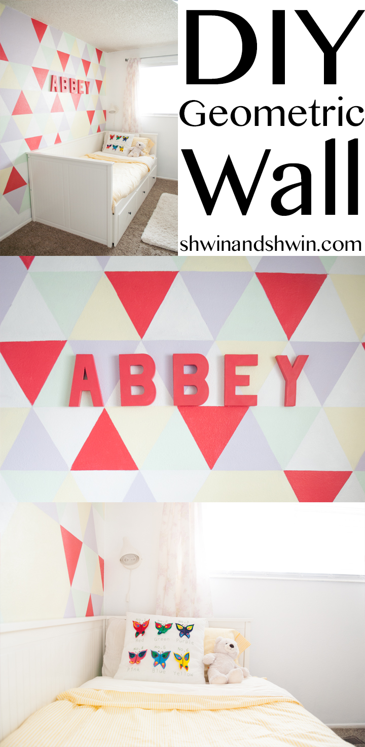 DIY Geometric Wall || Shwin&Shwin