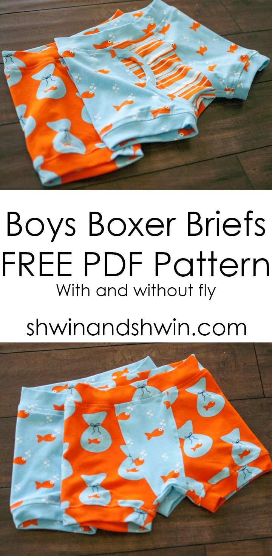 Boys Boxer Briefs    Free PDF Pattern    Shwin&Shwin