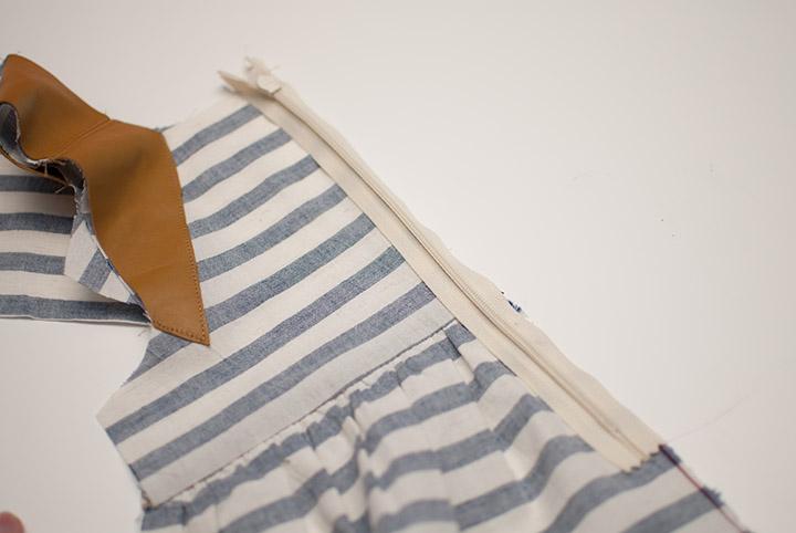Linen+Leather Dress || Free PDF Pattern sizes 12m-8Y