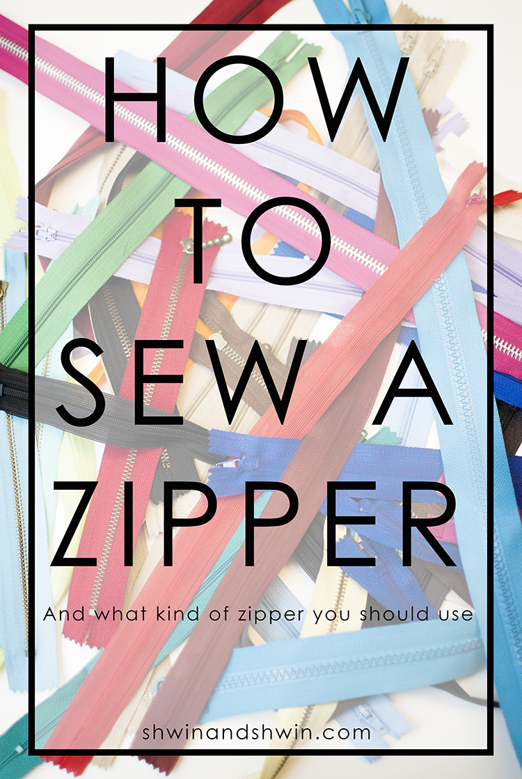 How to sew a zipper || All about zippers || Shwin&Shwin