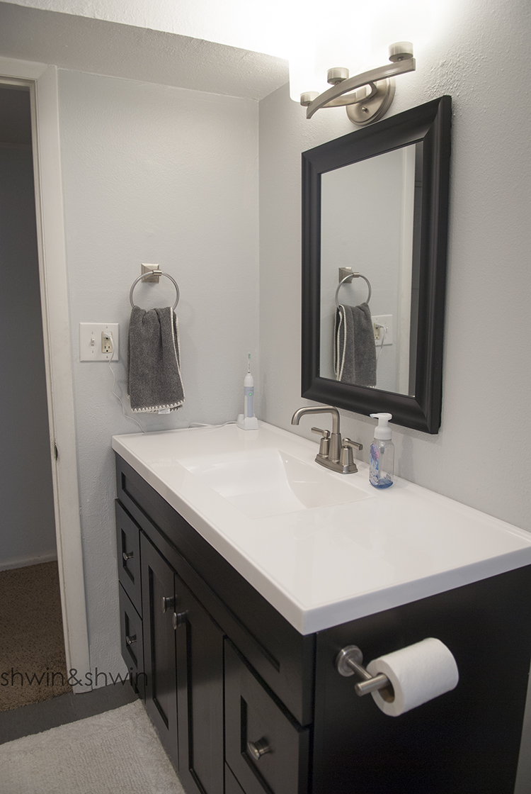 Perfect This bathroom is primarily used by our son but it us also the guest bathroom for the guest bedroom in the basement When we were designing the bathroom I