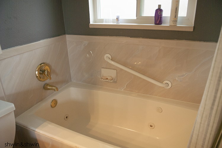 It Had A Jetted Tub Which Was Nice And Deep. We Knew We Needed To Put In A  Shower But We Went Back And Forth On Taking Out The Tub, Replacing The ...