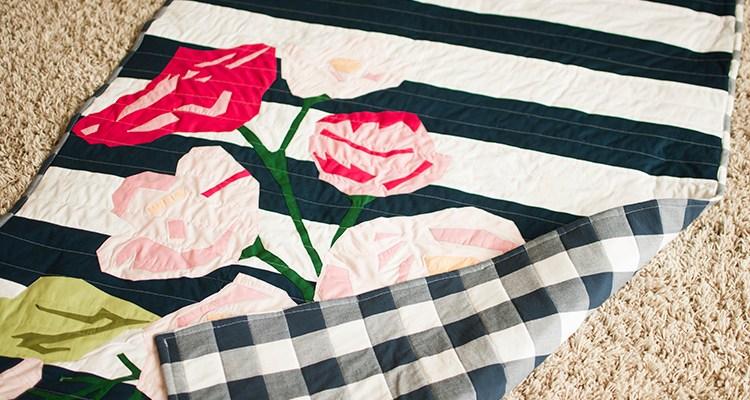 Floral Quilt Applique Pattern