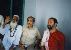 Shyamdas with some early devotional associates of his in Braj