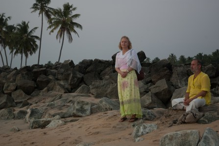 Shyamdas and sister Susan enjoying a quiet moment on a South Indian beach (January 2, 2007)