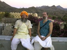 Shyamdas and Mohan Dada looking mystical. May 4, 2002