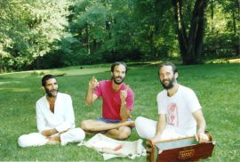 With bhakta friends Asim Krishnadas and Premdas David Haberman