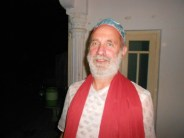 Shyamdas decked out in festive attire in Nathdvara