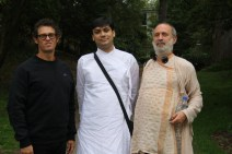 with guru and friends