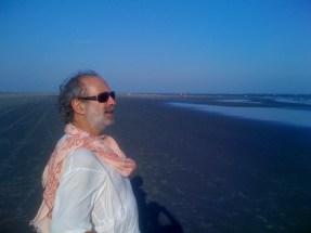 A shaded moment on a Charleston beach