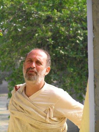 Shyamdas in doorway