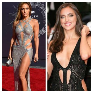 over done cut-out dresses are extremely tired! Although, Jennifer Lopez does no wrong it is rare that a cutout below the waist is ever flattering. It is awkward and does not look like there is much room for movement.