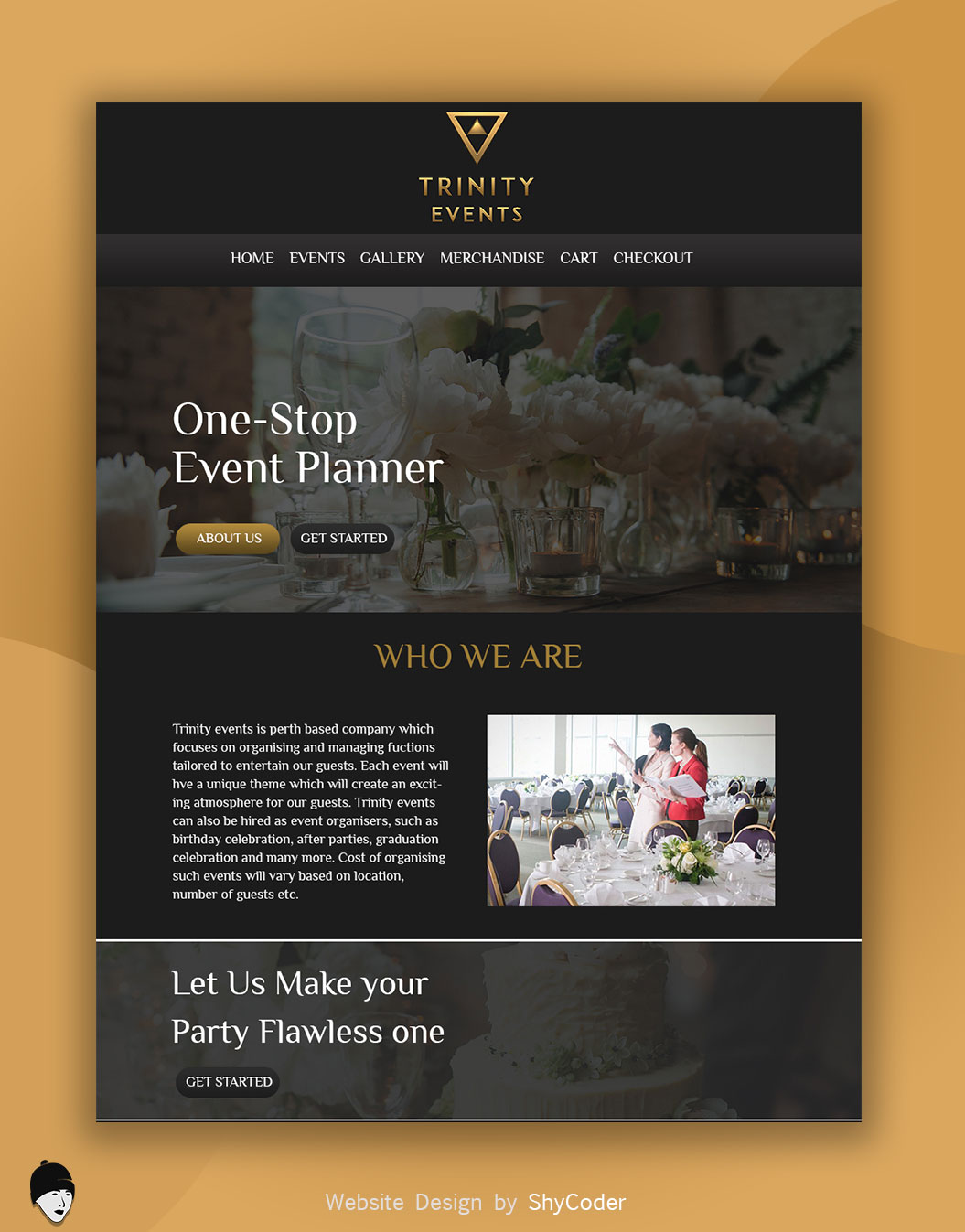 Trinity Events Website Design