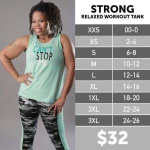 Strong Relaxed Workout Tank