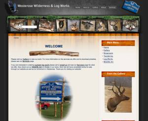 Second Westerose Wilderness & Log Studio Website 2010 Joomla