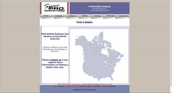 MCA Mobiles Website (2002) with image map