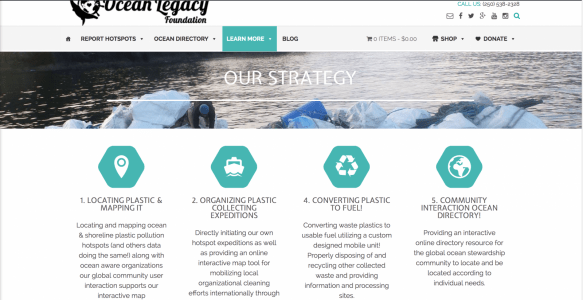 The Ocean Legacy Foundation 2016 Website