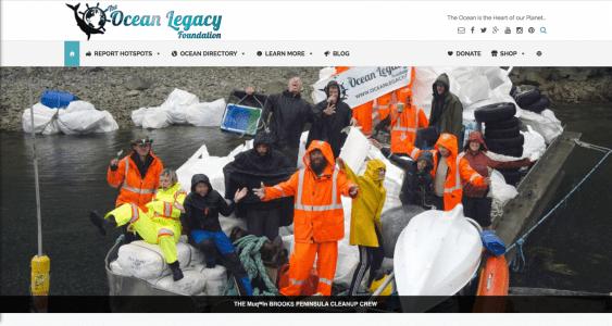2016 Ocean Legacy Foundation Website