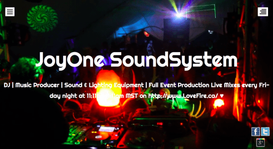 JoyOne Soundsystem Website