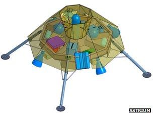 Prototype virtuel du robot explorateur martien.