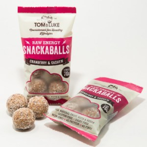 5 Snackaballs Cranberry and Cashew Raw Energy