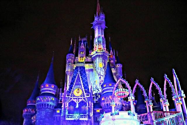 cinderella's castle light up