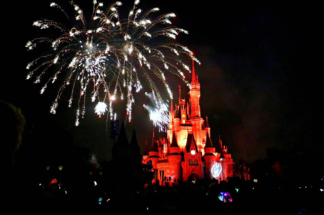 Fireworks During Mickey's Not so Scary Halloween Party