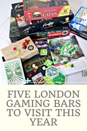 Five London Gaming Bars to Visit this Year pinterst pin