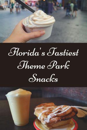 Florida's Tastiest Theme Park Snacks pinterest pin