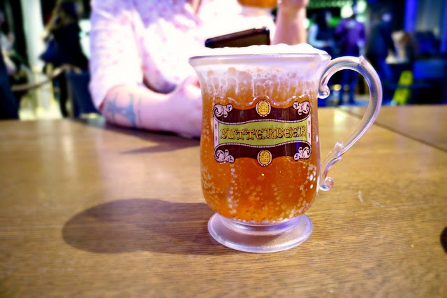 a glass of butterbeer