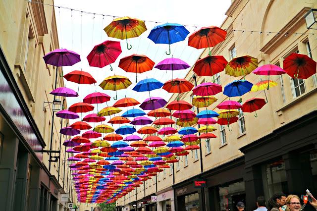 Umbrellas installation in Bath