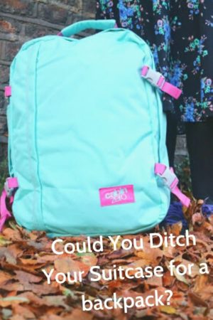 Could You Ditch Your Suitcase for a Cabin Zero backpack pinterest pin