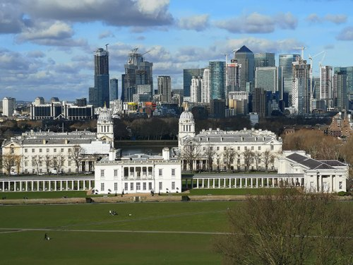View from Greenwich Park observation point