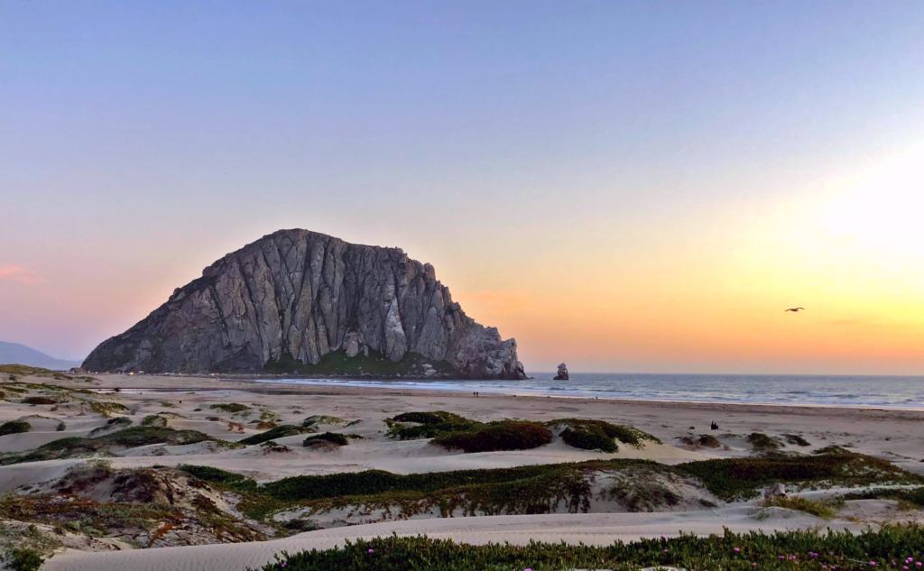 Morrow Rock at sunset on the Pacific Coast Highway